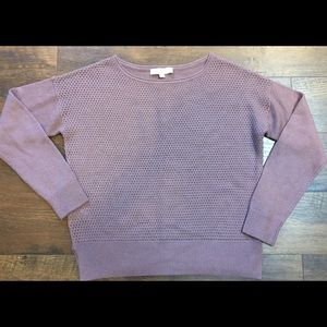 Ann Taylor Loft Purple Sweater sz LG~EUC
